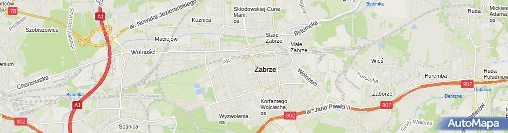 Zdjęcie satelitarne Helena Kołodziej Lucjan Kołodziej F P H Kołodziej