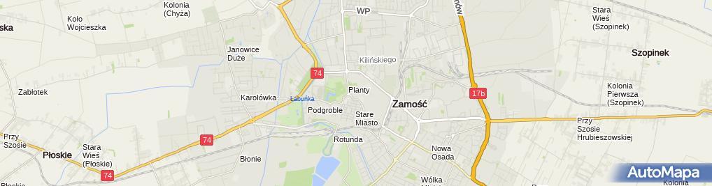 Zdjęcie satelitarne Henryka Drążewska - Działalność Gospodarcza