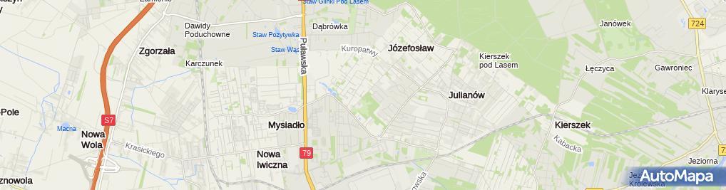 Zdjęcie satelitarne Home Art Ostrowska i Pochroń