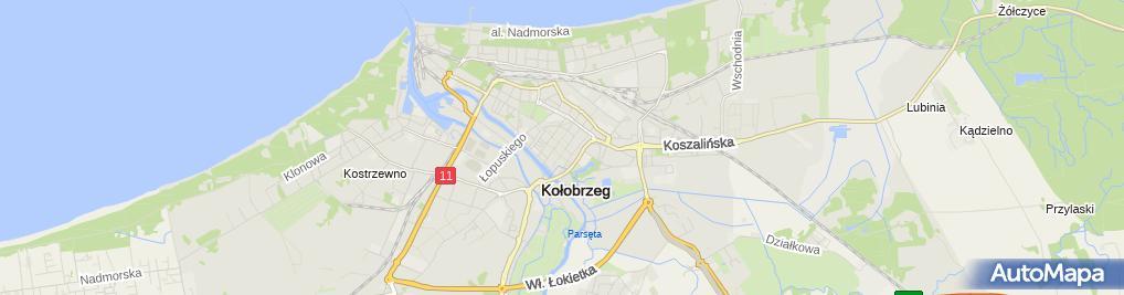 Zdjęcie satelitarne Hurtowa i Detaliczna Sprzedaż Towarów Spożywczych Delikates Paweł Pinkiewicz