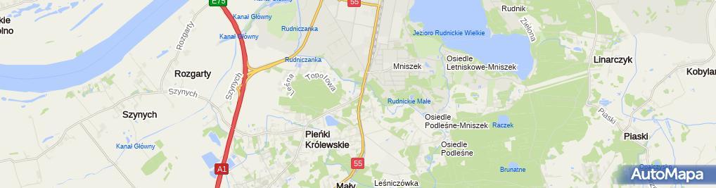 Zdjęcie satelitarne Hurtownia Kerlid