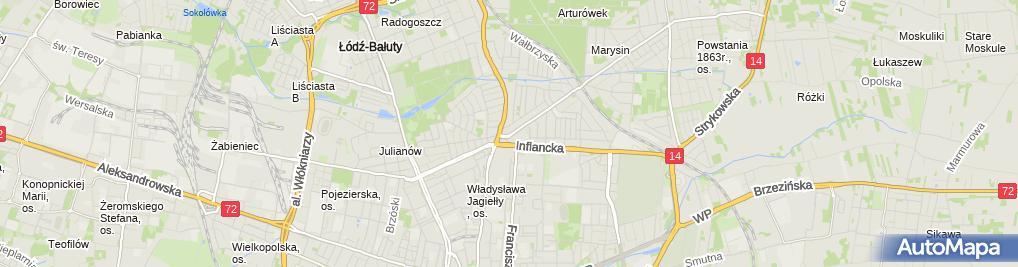 Zdjęcie satelitarne Hurtownia Motos Ryszard Ciesielski Małgorzata Jagodzińska