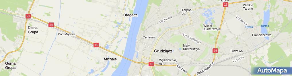 Zdjęcie satelitarne Hurtownia Oleji i Akcesorii Samochodowych Kawiecki Michał Gralak Sławomir