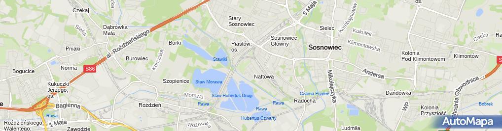 Zdjęcie satelitarne Hurtownia