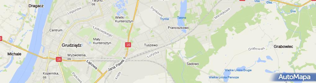 Zdjęcie satelitarne Hurtowy Handel Obwoźny