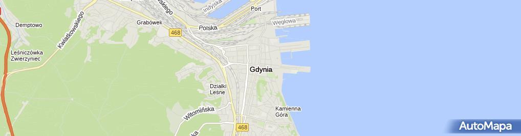 Zdjęcie satelitarne i Morska Kancelaria Adwokacka II S Y Bryza H