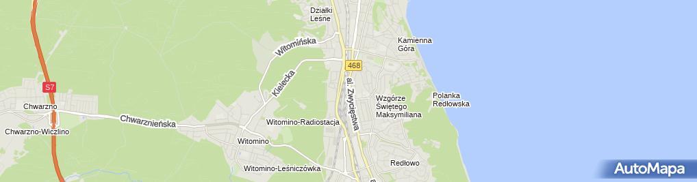 Zdjęcie satelitarne i.Plejewski Studio II.Galeria Tiffany III.Freeky Poland