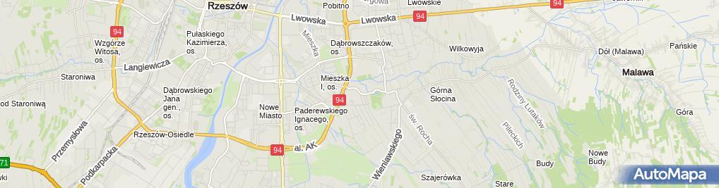 Zdjęcie satelitarne i Vip Partner Szczygieł Stanisław II Podkarpackie Centrum Odszkodowań Versus Szczygieł Stanisław