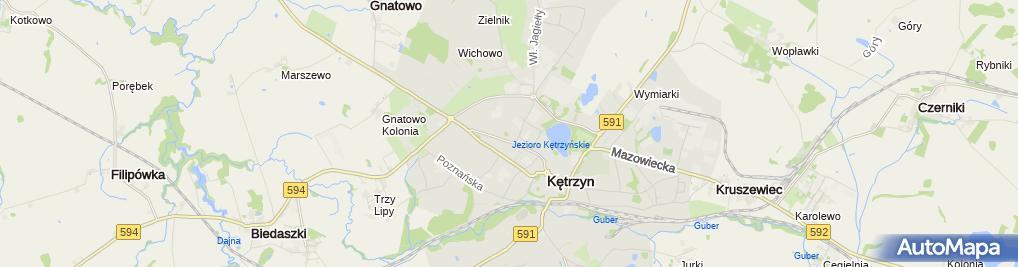 Zdjęcie satelitarne Indywidualna Praktyka Lekarska Elwira Beata Warno Snopek