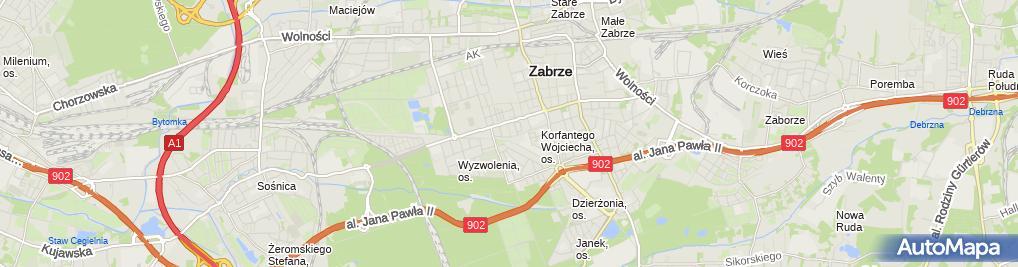 Zdjęcie satelitarne Indywidualna Praktyka Lekarska Helena Krzemień