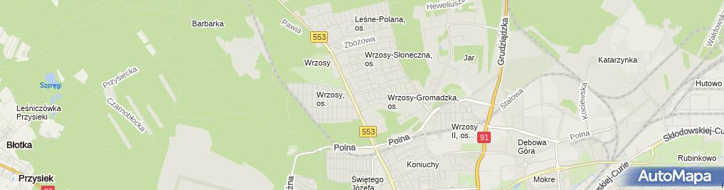 Zdjęcie satelitarne Indywidualna Praktyka Lekarska Marta Dłużewska