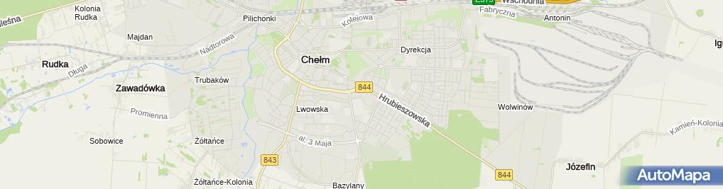 Zdjęcie satelitarne Indywidualna Praktyka Lekarska Na Wezwanie Lek Zofia Grabowska Kwapisiewicz