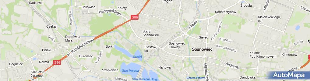 Zdjęcie satelitarne Indywidualna Praktyka Lekarska w Miejscu Wezwania Aleksandra Sztefka Wolny