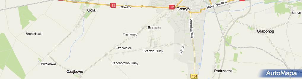 Zdjęcie satelitarne Indywidualna Praktyka Lekarska w Miejscu Wezwania Izabela Cwojdzińska Jankowska