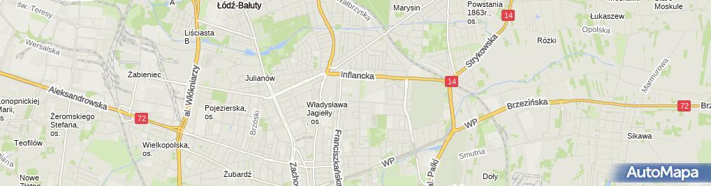 Zdjęcie satelitarne Indywidualna Praktyka Lekarska Wykonywana Wyłącznie w Miejscu Wezwania Anna Czerniecka Ronowska
