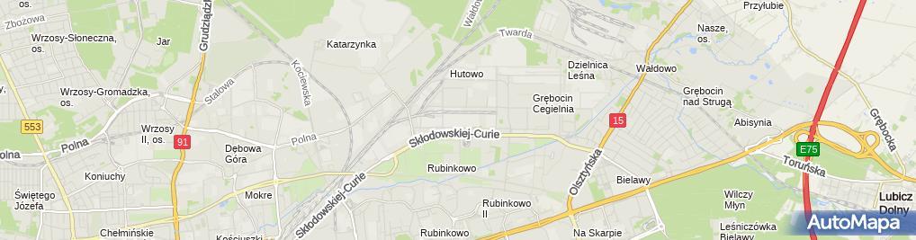 Zdjęcie satelitarne Indywidualna Specjalistyczna Praktyka Lekarska Bartczak