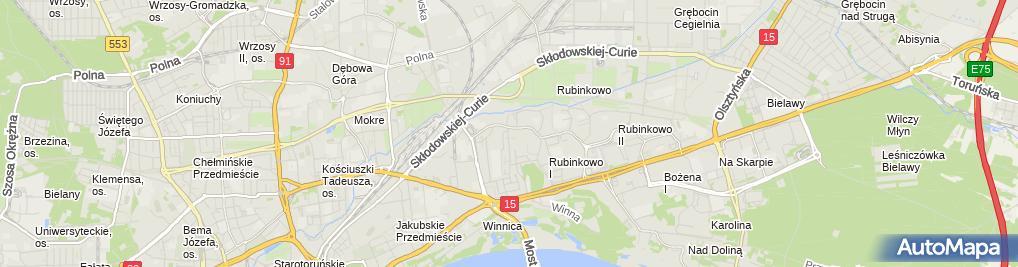 Zdjęcie satelitarne Infornet Filip Kamieniecki Marcin Szachniewicz