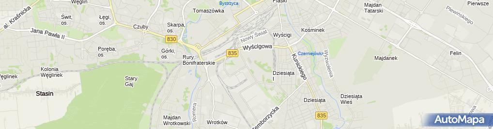 Zdjęcie satelitarne Inprojekt