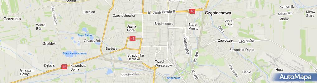 Zdjęcie satelitarne Inter As