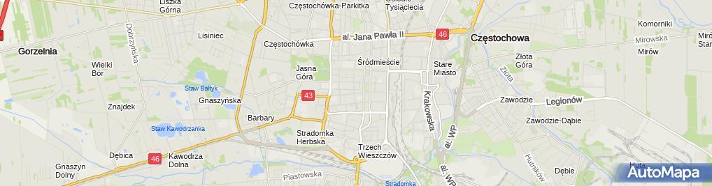 Zdjęcie satelitarne Internistyczny Gabinet Lekarski