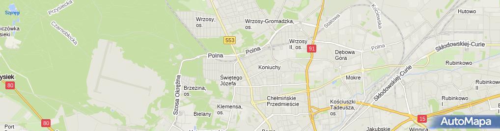 Zdjęcie satelitarne Invest Dompol