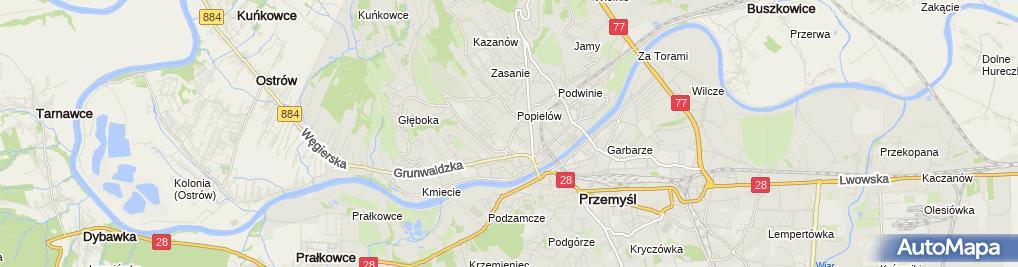 Zdjęcie satelitarne Iwona Gajewska-Flis Prywatna Praktyka Lekarska