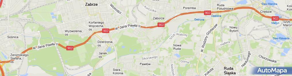 Zdjęcie satelitarne Izabela Kraśniewska - Działalność Gospodarcza