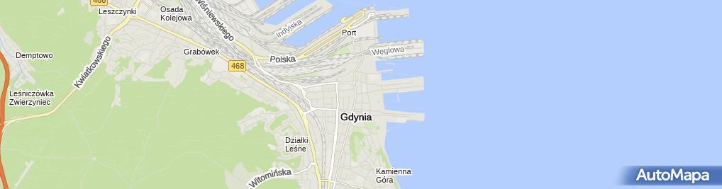 Zdjęcie satelitarne Izba Bawełny w Gdyni Gdynia Cotton Association