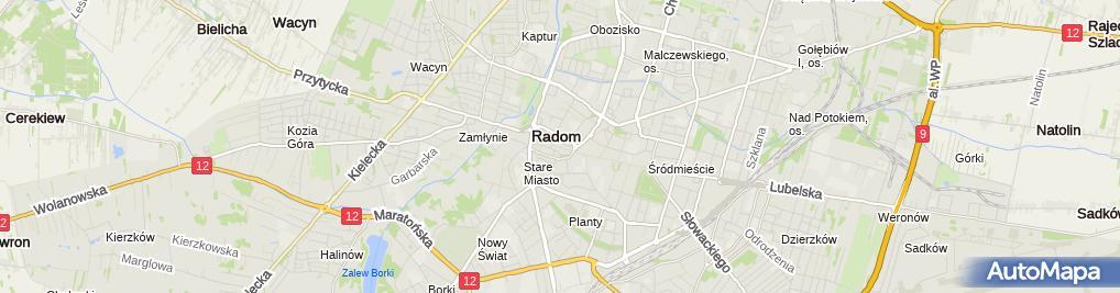 Zdjęcie satelitarne Izba Przemysłowo Handlowa Ziemi Radomskiej
