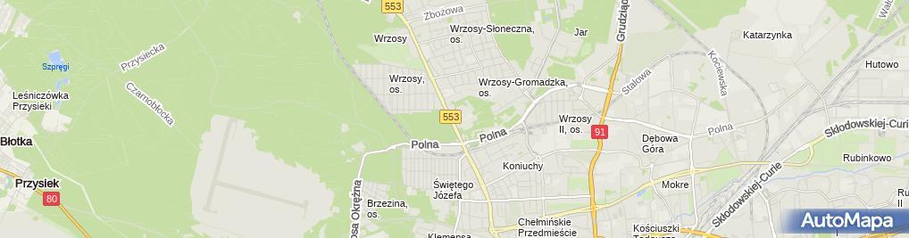 Zdjęcie satelitarne Jacek Frankowski Przedsiębiorstwo Wielobranżowe Węglokoks -Bis, AFConsulting