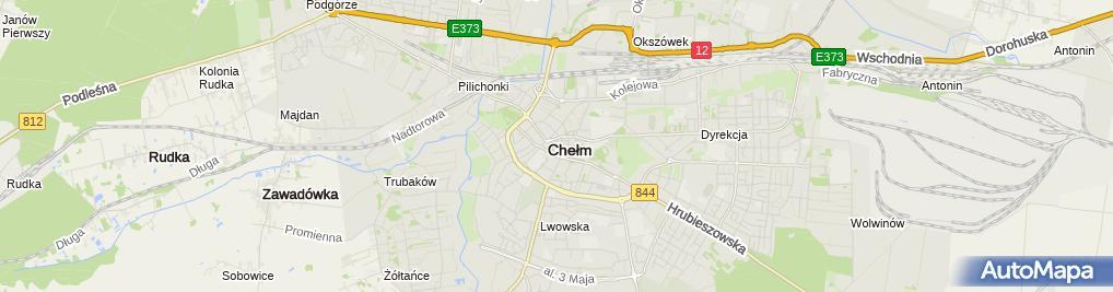 Zdjęcie satelitarne Jacek Szymański Komornik Sądowy przy Sądzie Rejonowym w Chełmie