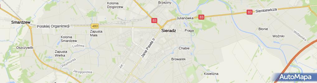 Zdjęcie satelitarne Jan Dudkowski - Działalność Gospodarcza