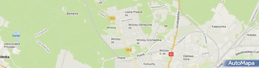 Zdjęcie satelitarne Jan Rawa - Działalność Gospodarcza