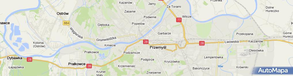 Zdjęcie satelitarne Janina Dzięgielowska Firma Handlowa