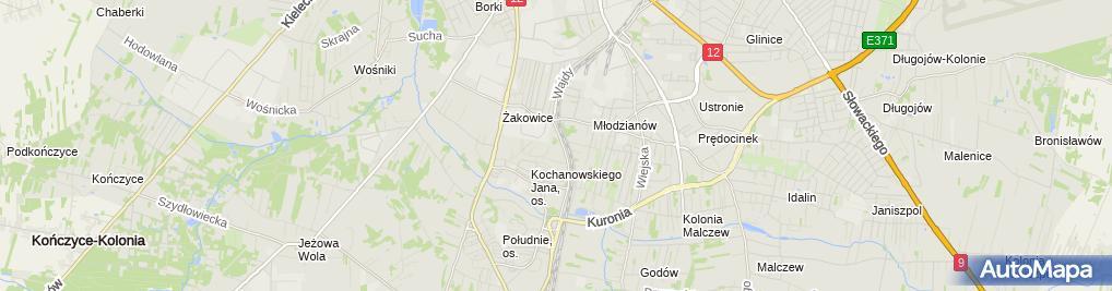 Zdjęcie satelitarne Janina Piecyk - Działalność Gospodarcza