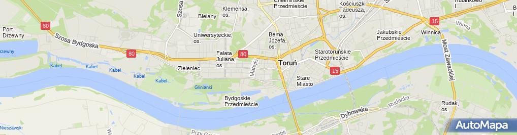 Zdjęcie satelitarne Janusz Brzoska Usługi Pielęgniarskie