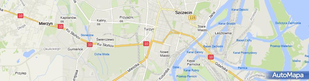Zdjęcie satelitarne Janusz Kosobucki - Działalność Gospodarcza