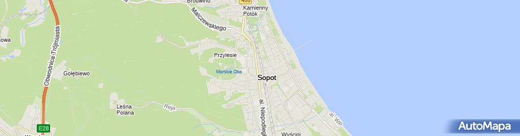 Zdjęcie satelitarne Jarosław Krajewski Firma Wielobranżowa Ferber Jarosław Krajewski