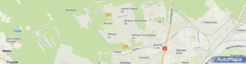 Zdjęcie satelitarne Jarosław Wencel Agencja Reklamowa Rex, Reks-2