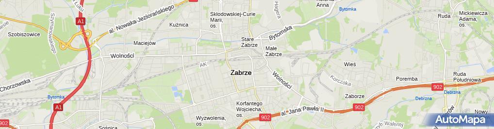 Zdjęcie satelitarne Jarosław Zabielski Budownictwo Ogólne Rzeczoznawstwo-Usługi-Nieruchomości Complex