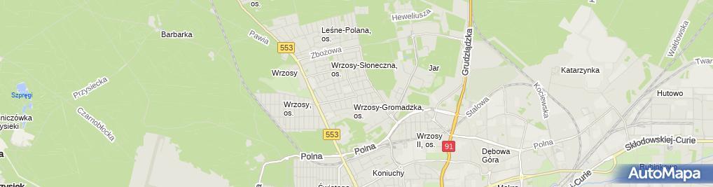 Zdjęcie satelitarne Jartom Gołaszewski Tomasz Latuszek Jarosław
