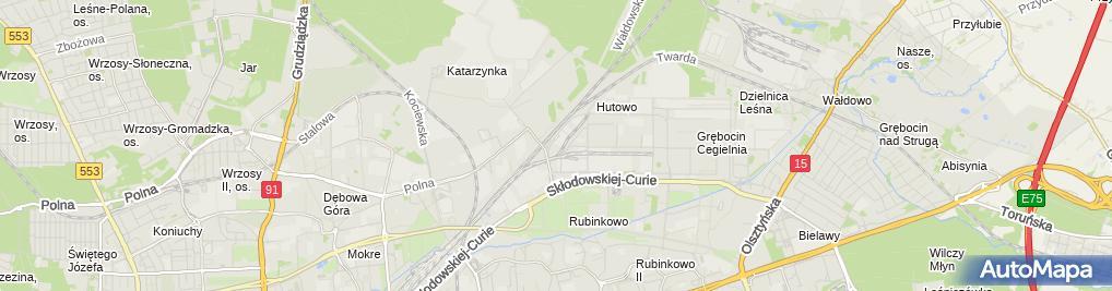 Zdjęcie satelitarne Jasiński Andrzej Anter Prywatne Przedsiębiorstwo Wielobranżowe