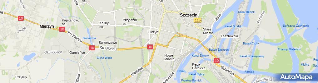 Zdjęcie satelitarne Jaskierny Grzegorz