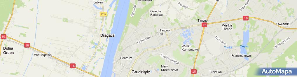 Zdjęcie satelitarne Jednostka Wojskowa nr 1442
