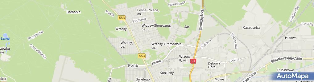 Zdjęcie satelitarne Jędraszek Aleksandra