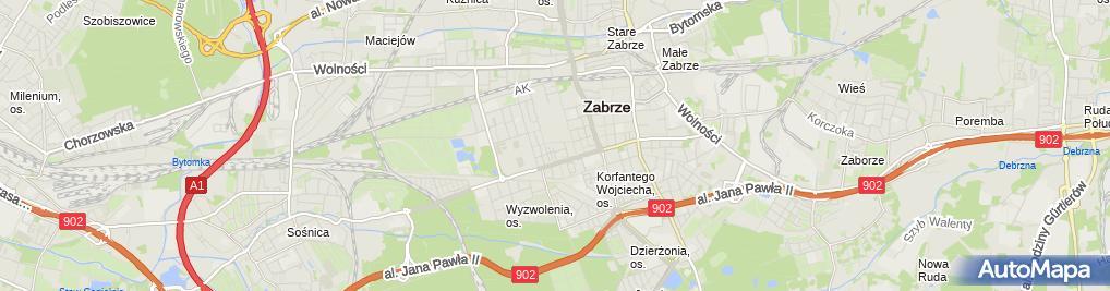 Zdjęcie satelitarne Jerzy Kokociński - Działalność Gospodarcza