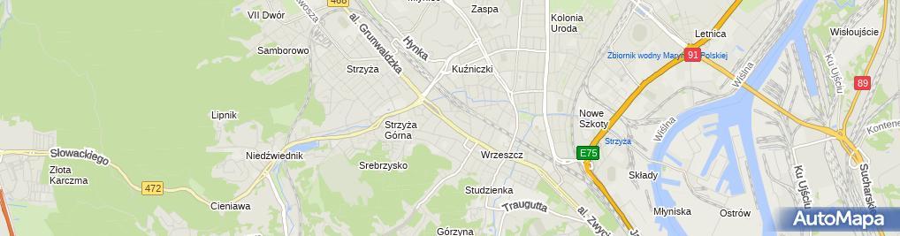 Zdjęcie satelitarne Jerzy Kujawa - Działalność Gospodarcza