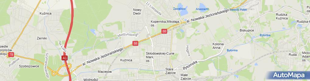 Zdjęcie satelitarne Jerzy Okupski - Działalność Gospodarcza