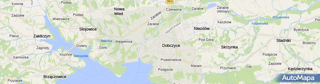 Zdjęcie satelitarne Jerzy Żuławiński Usługi Asenizacyjne