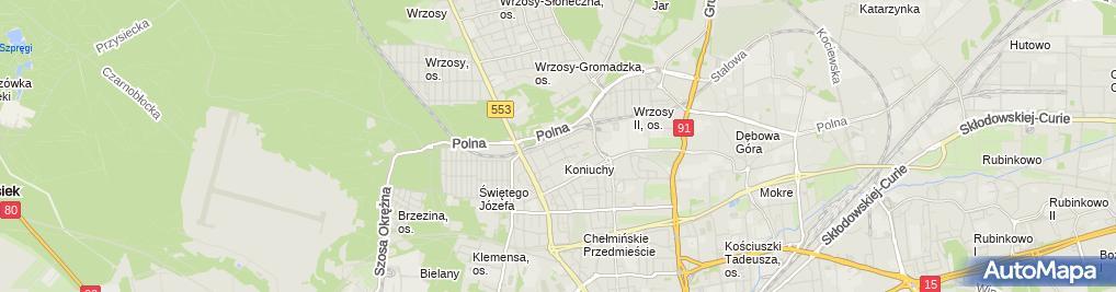 Zdjęcie satelitarne Jeżewski Przedsiębiorstwo Programistyczne Jeżewski Krzysztof
